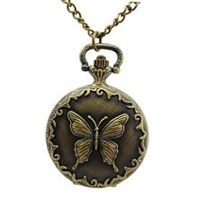 Antique Butterfly Pattern Brass Quartz Pocket With Chain Belt - JUST ARRIVE!!!