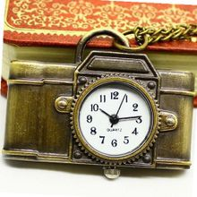 Birthday Gift Retro Style Bronze Camera Pocket Necklace Accessories
