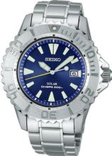SEIKO PROSPEX diver scuba solar ppm backlash prevention bezel blue SBDN007 men