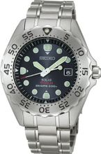 SEIKO ProspEx diver scuba titanium solar reverse rotation prevention bezel black SBDN001 men's