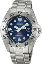 SEIKO ProspEx diver scuba titanium solar reverse rotation prevention bezel blue SBDN003 men's