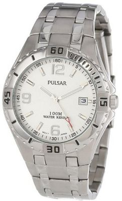 Pulsar PXH705 Sport Stainless Steel Silver Dial