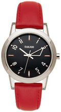 Rakani +5 32mm Black with Red Leather Band