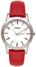 Rakani +5 32mm White with Red Leather Band