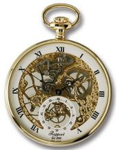 Rapport of London Gold Plated Open Face Pocket with Skeletonized Movement