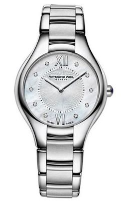 Raymond Weil Noemia Mother of Pearl Diamond Dial Stainless Steel Ladies 5132-ST-00985
