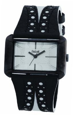 Rebel Ladies Reb2003 with Black And White Leather Strap