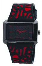 Rebel Ladies Reb2007 with Black And Red Leather Strap