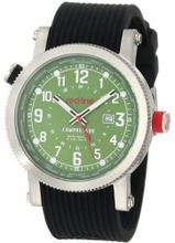 red line 18003-08WH Compressor Green Dial World Time Black Silicone