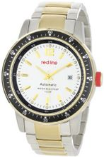 red line 50013-22S-YGSS Meter Collection Automatic Silver Dial Two-Tone