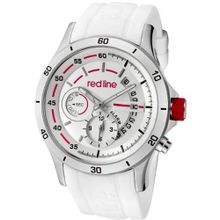 red line 50021-02-WHT Tech Silver Dial White Silicone