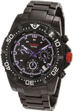 red line 50030VK-BB-01BL Racer Chronograph Black Dial Black Ion-Plated Stainless Steel