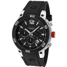 red line 50033-01 Mission Chronograph Black Dial Black Silicone