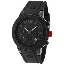 red line 50033-BB-01 Mission Chronograph Black Dial Black Silicone