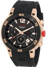 red line 50033-RG-01 Mission Chronograph Black Dial Black Silicone