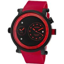 red line 50037-BB-01-RD Specialist World Time Black Dial Red Silicone