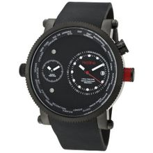 red line 50037-BLK Specialist World Time Black Dial Black Silicone