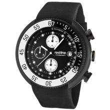 red line 50038-BB-01-WBBZ Driver Chronograph Black Dial Black Silicone