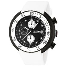 red line 50038-BB-01-WHT Driver Chronograph Black Dial White Silicone