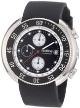 red line RL-50038-01 Driver Chronograph Black Dial Black Silicone