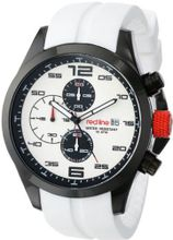red line RL-50042-BB-02-WHT Stealth Chronograph White Textured Dial White Silicone