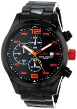 red line RL-50042-BB-11OR Stealth Chronograph Black Textured Dial Black Ion-Plated Stainless Steel
