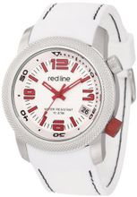 "red line RL-50043-02 ""Octane"" Stainless Steel and White Silicone"