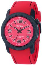 "red line RL-50043-BB-05-RD ""Octane"" Black Ion-Plated Stainless Steel and Red Silicone"