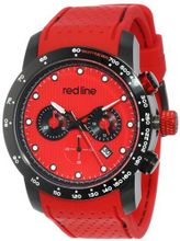 red line RL-50044-BB-05-RD Velocity Red Textured Dial Black Silicone