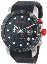 red line RL-50044-BB-SS-01-BK Velocity Black Textured Dial Black Silicone