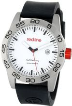 red line RL-50045-02-BK-ST Mileage Automatic White Dial Black Silicone Band