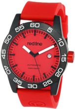 red line RL-50045-BB-05-RD-ST Mileage Automatic Red Dial Silicone Band