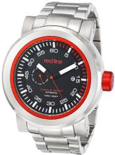 red line RL-50046-11RD Torque Sport Black Dial Stainless Steel Automatic