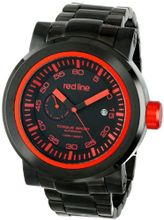 red line RL-50046-BB-11RD Torque Sport Black Dial Black Ion-Plated Stainless Steel Automatic