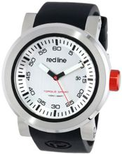 red line RL-50049-02S Torque Sport Silver Dial Black Silicone Band