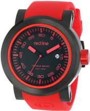 red line RL-50049-BB-01-RDAS Torque Sport Black Dial Red Silicone Band