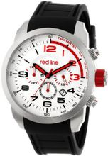 red line RL-60000 Overdrive Chronograph Silver Textured Dial Black Silicone