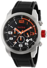 red line RL-60001 Overdrive Chronograph Black Textured Dial Black Silicone