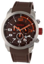 red line RL-60003 Overdrive Chronograph Brown Textured Dial Brown Silicone