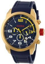 red line RL-60004 Overdrive Chronograph Dark Blue Textured Dial Dark Blue Silicone