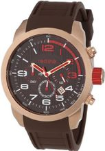 red line RL-60005 Overdrive Chronograph Brown Textured Dial Brown Silicone