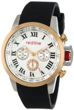 red line RL-60051 Chronograph Silver Dial Black Textured Silicone