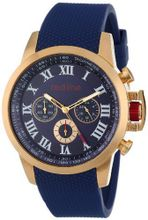 red line RL-60052 Chronograph Blue Dial Blue Textured Silicone