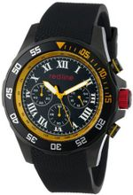 red line RL-60054 Chronograph Black Dial Black Textured Silicone