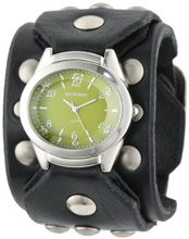 Red Monkey Designs RM788G-JA1 Sin City Black Leather Green Dial