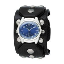 Red Monkey Designs RM788G-JA2 Sin City 2 Black Leather Blue Dial