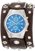 Red Monkey Designs RMVL1-G Violator Chronograph Brown Leather Blue Dial