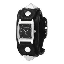 Red Monkey Designs Unisex RM159-RBLA1 Rebel 1 Black Leather Black Dial
