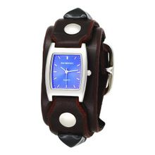 Red Monkey Designs Unisex RM159-RBLA2 Rebel 2 Brown Leather Blue Dial