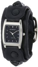 Red Monkey Designs Unisex RM159-RBLA3 Rebel 3 Black Leather Black Dial